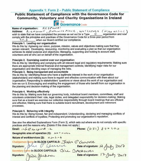Signed Governance Code 2017 jpeg