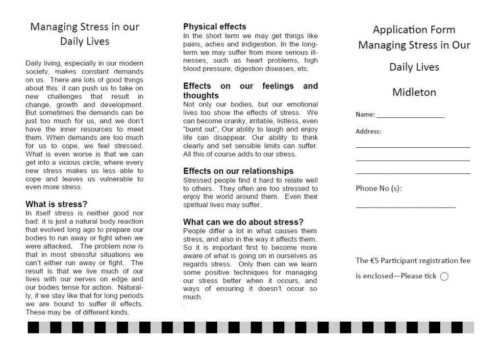 Managing Stress on our Daily Lives Form
