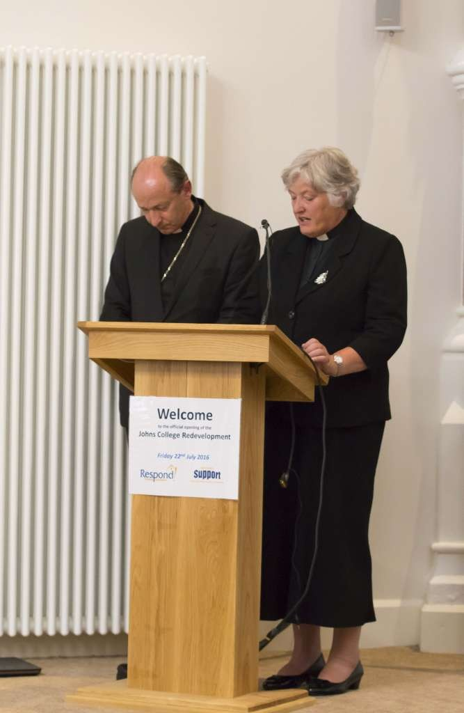 A -Minister and Dean Blessing