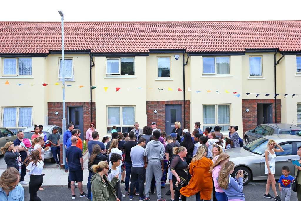 Respond houses at opening at Moyglas