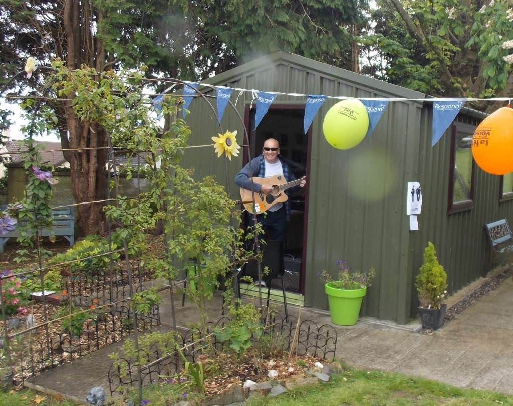 Dermot at Allottments at Airmount on Neighbours Day 2017 (4)