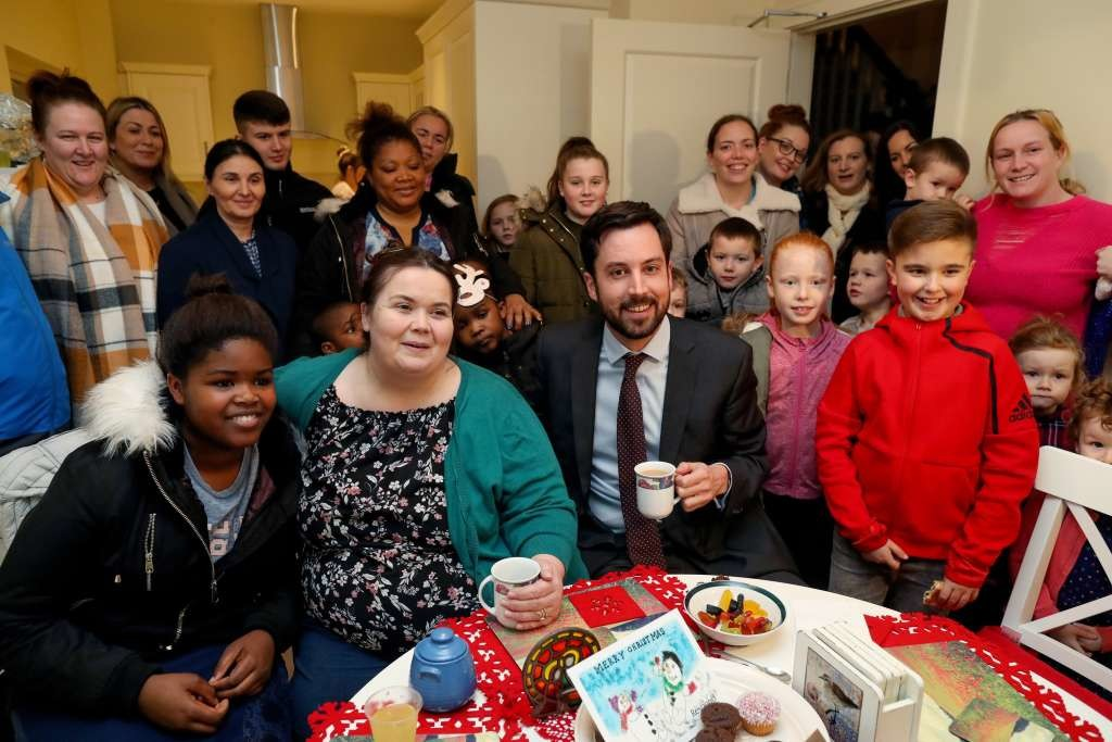 Dolores O Brien and Channel with Minister and group of residents Dec 2017